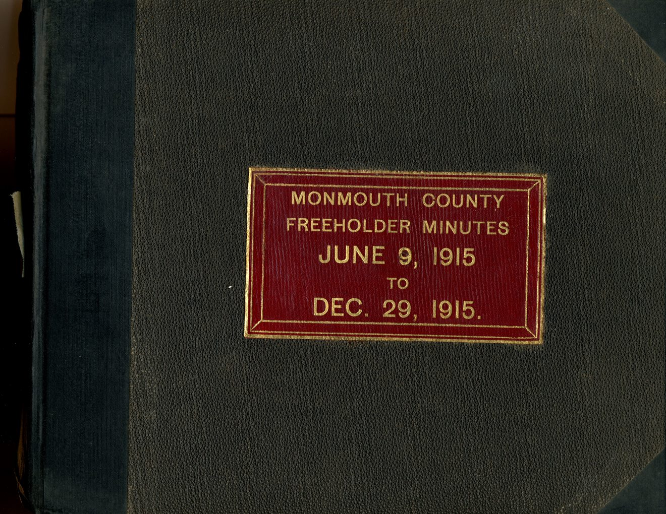 Freeholder Minute book