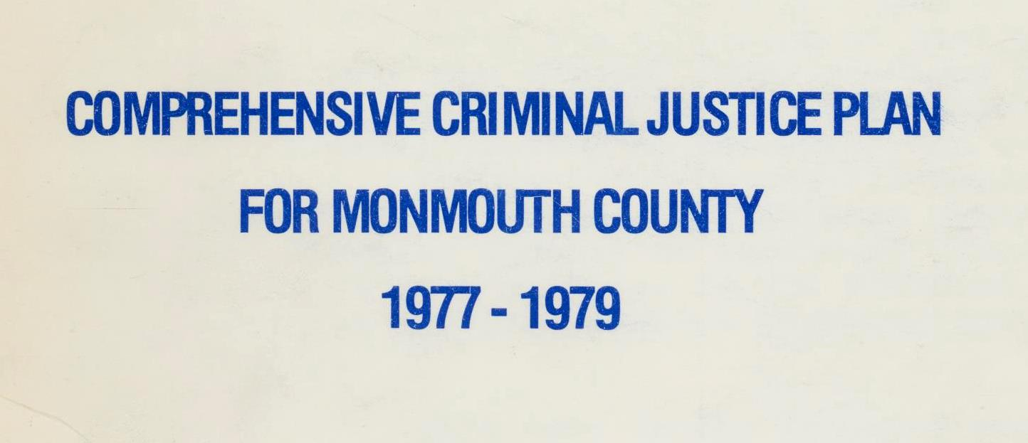 Comprehensive Criminal Justice Plan