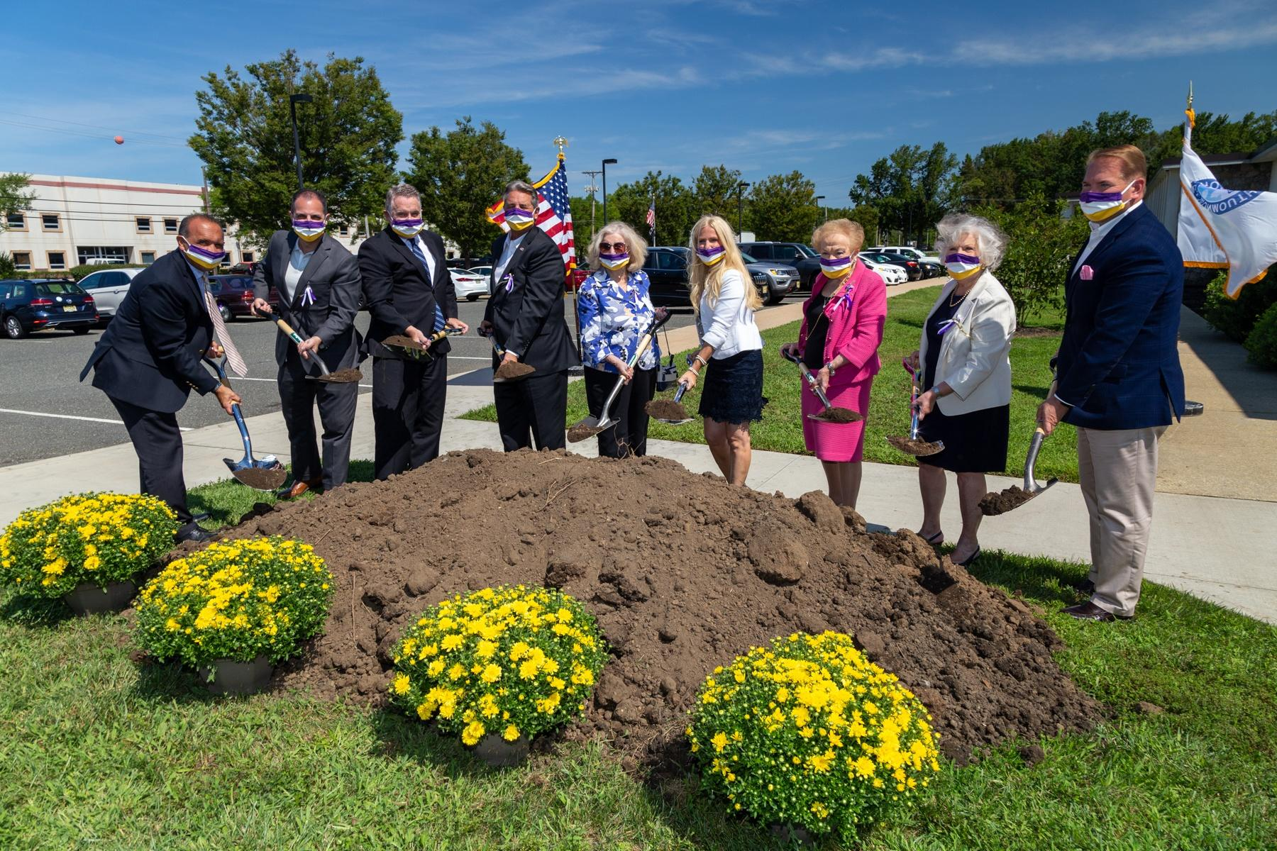 featured image for: <center>COUNTY CLERK HANLON AND COUNTY BOARD OF CHOSEN FREEHOLDERS BREAK GROUND ON 19TH AMENDMENT CENTENNIAL COMMEMORATIVE GARDEN </center>